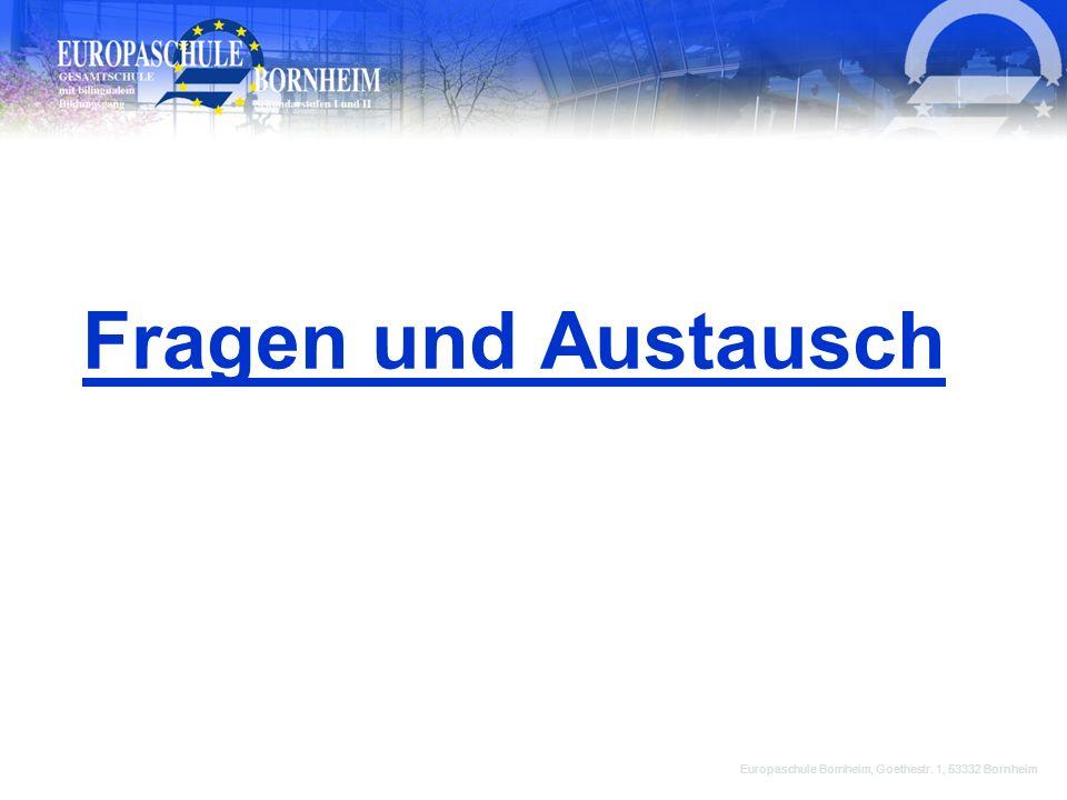 Fragen und Austausch Europaschule Bornheim, Goethestr. 1, 53332 Bornheim