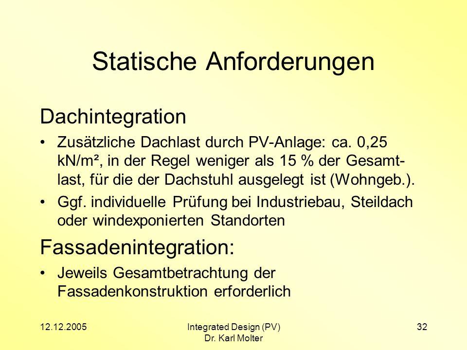 Statische Anforderungen