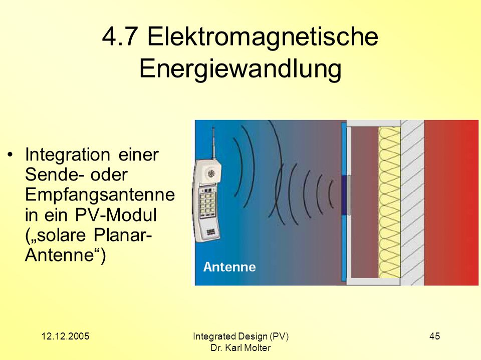 4.7 Elektromagnetische Energiewandlung
