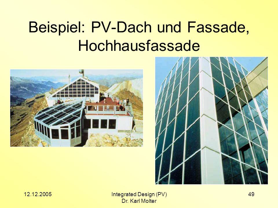 Beispiel: PV-Dach und Fassade, Hochhausfassade