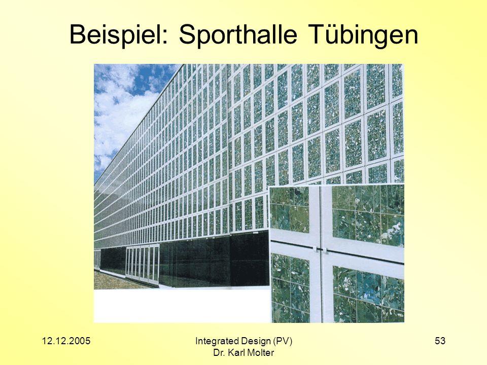 Beispiel: Sporthalle Tübingen