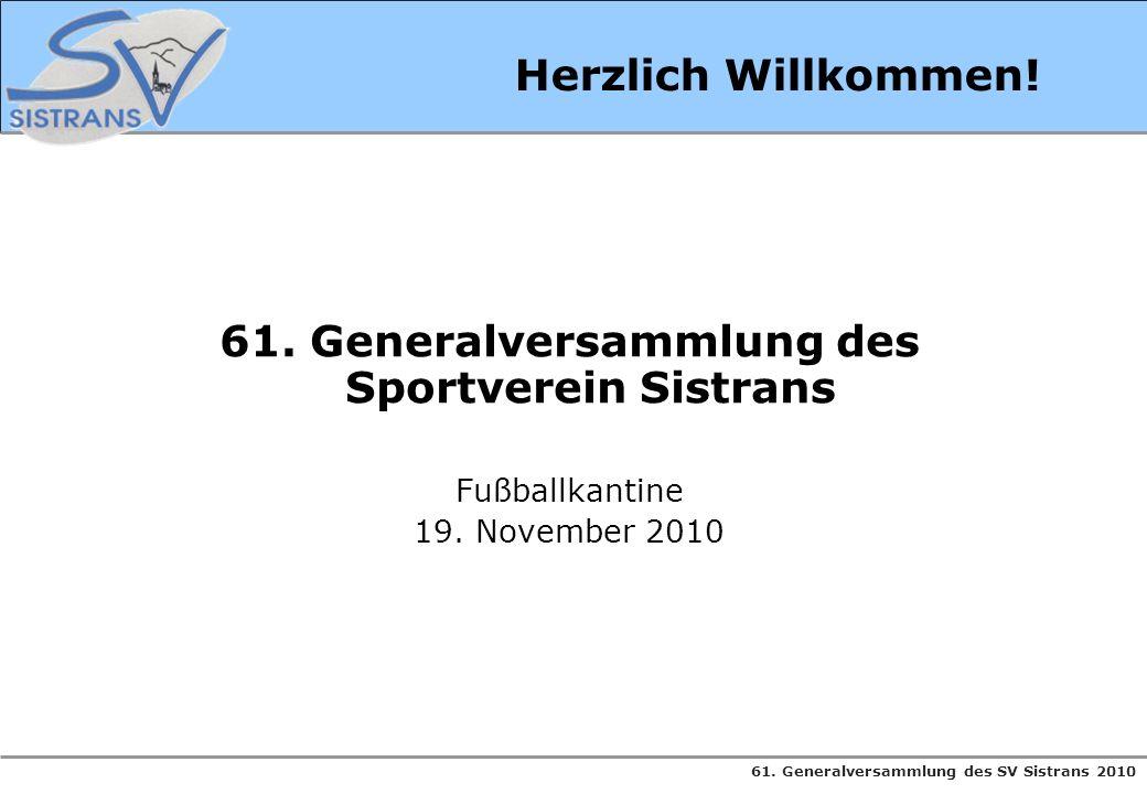 61. Generalversammlung des Sportverein Sistrans