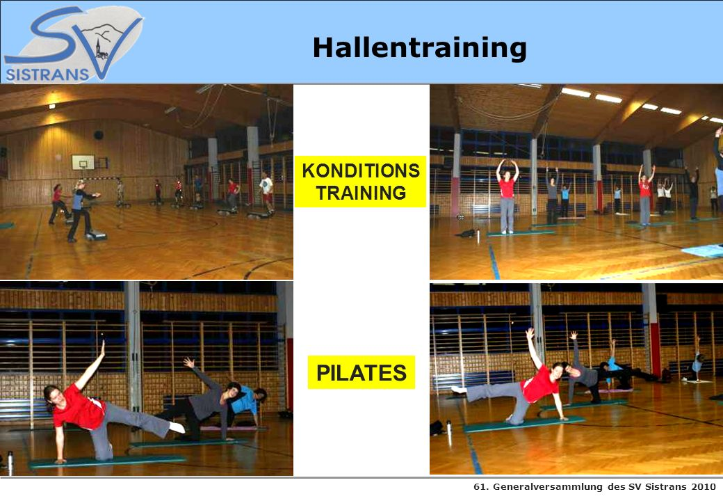 Hallentraining KONDITIONS TRAINING PILATES