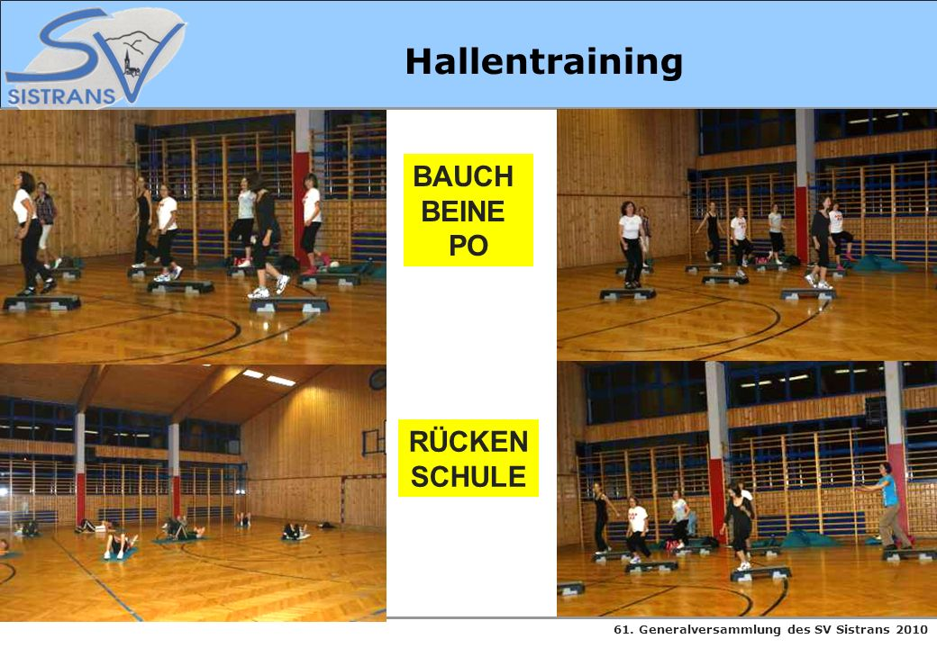 Hallentraining BAUCH BEINE PO RÜCKEN SCHULE