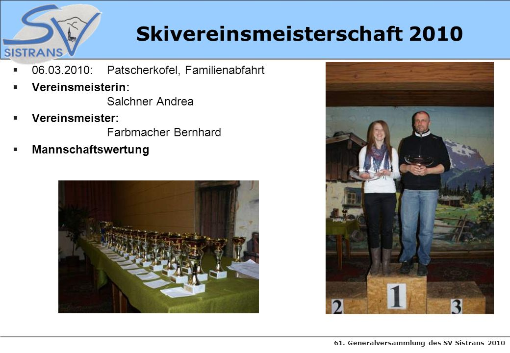 Skivereinsmeisterschaft 2010