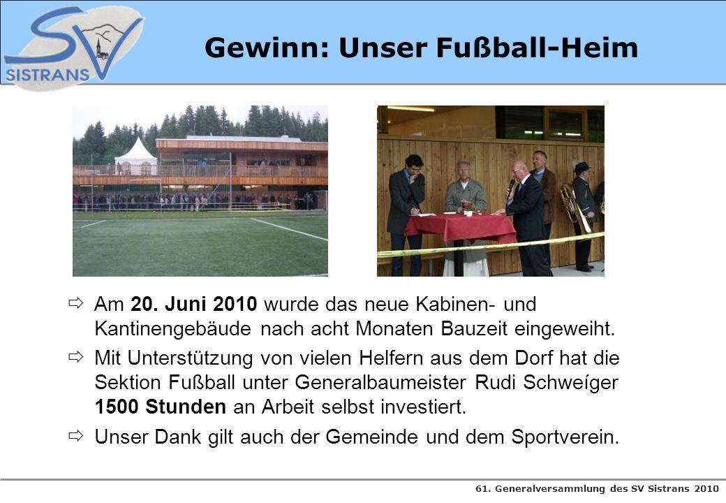 Gewinn: Unser Fußball-Heim