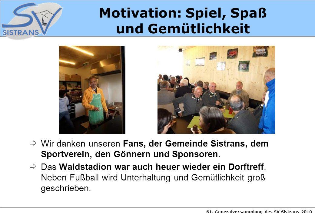 Motivation: Spiel, Spaß und Gemütlichkeit