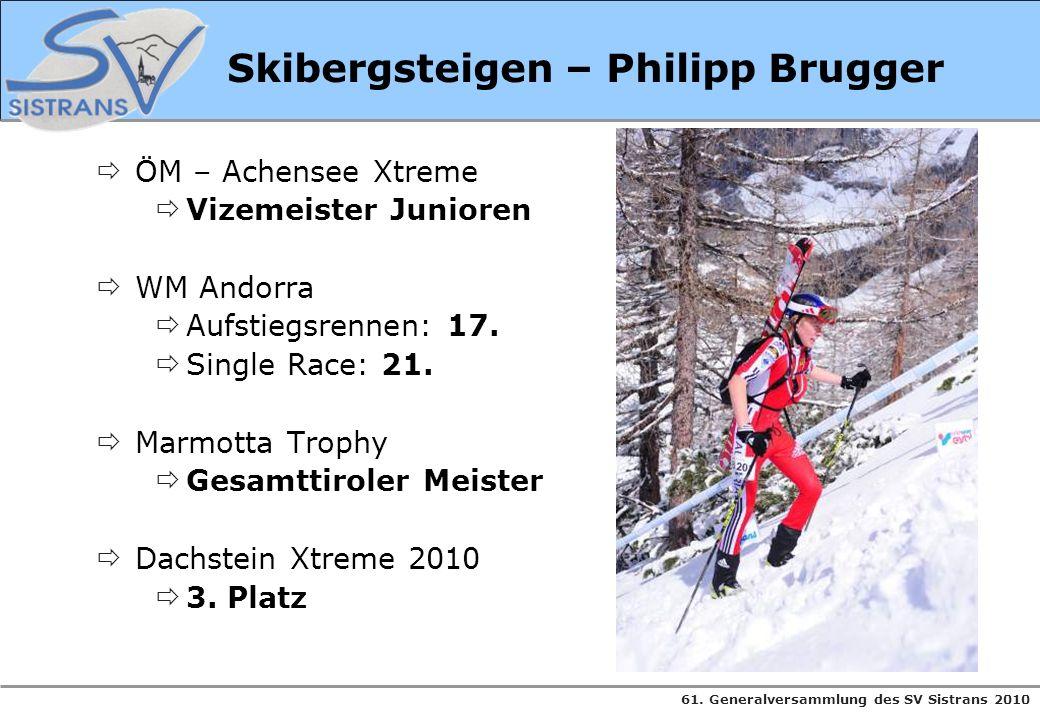 Skibergsteigen – Philipp Brugger