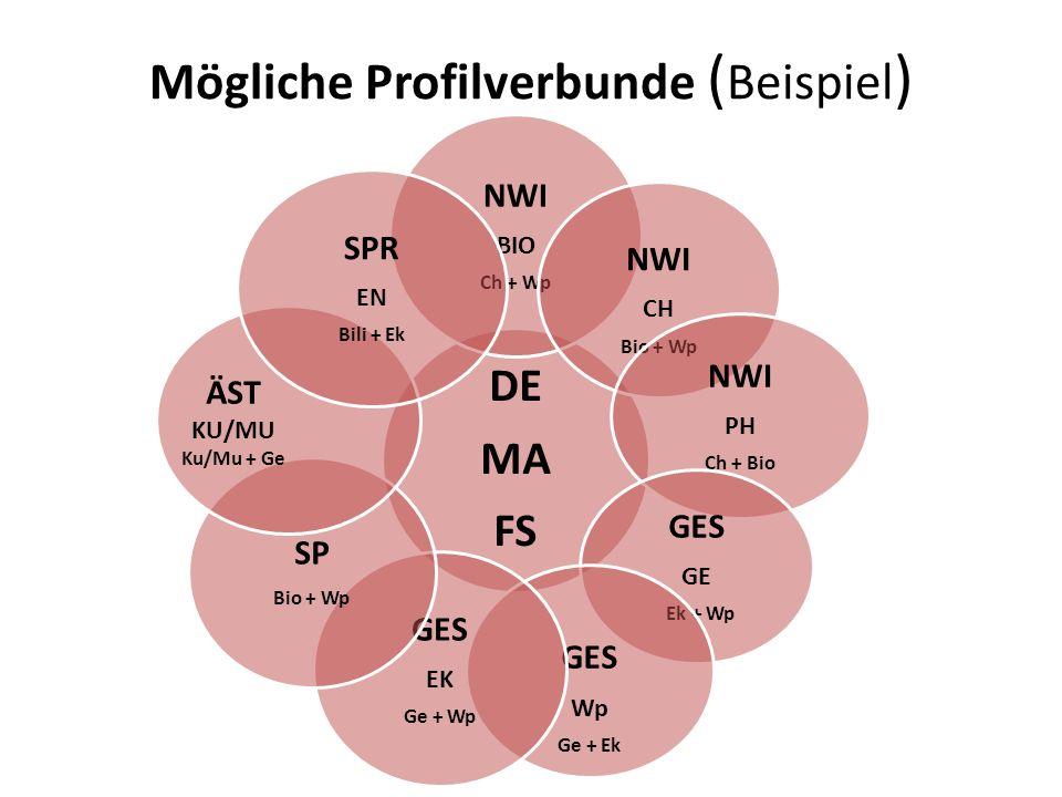 Mögliche Profilverbunde (Beispiel)