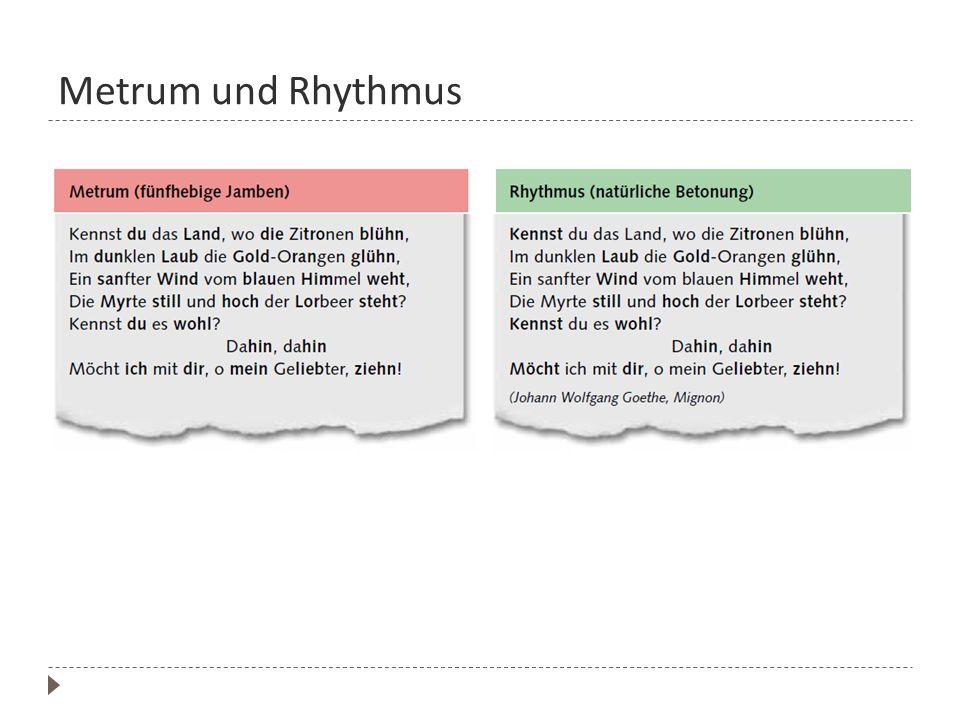 Metrum und Rhythmus
