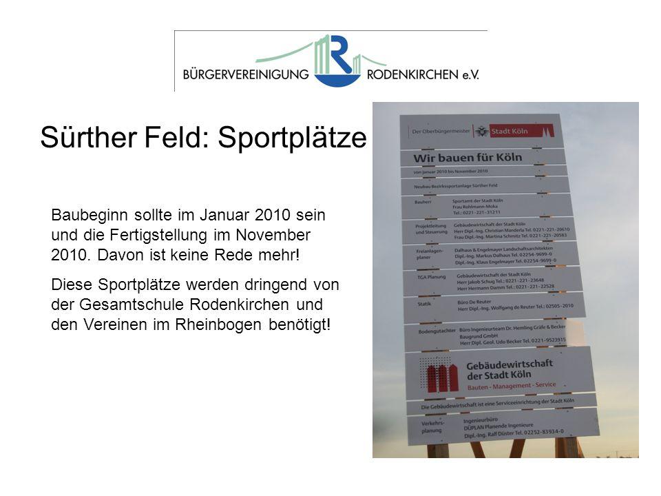 Sürther Feld: Sportplätze