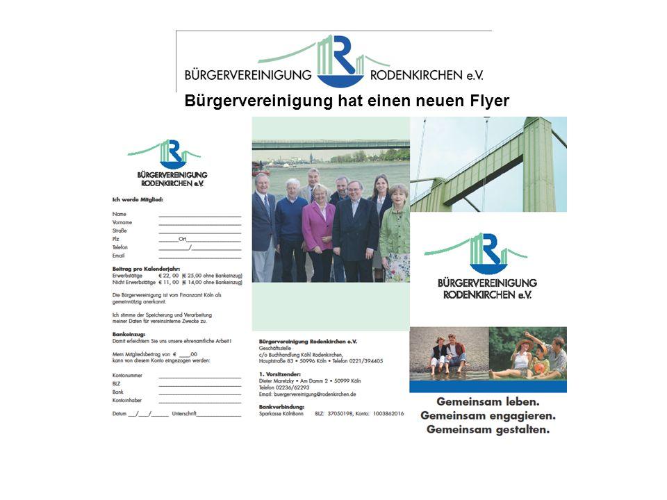 Bürgervereinigung hat einen neuen Flyer