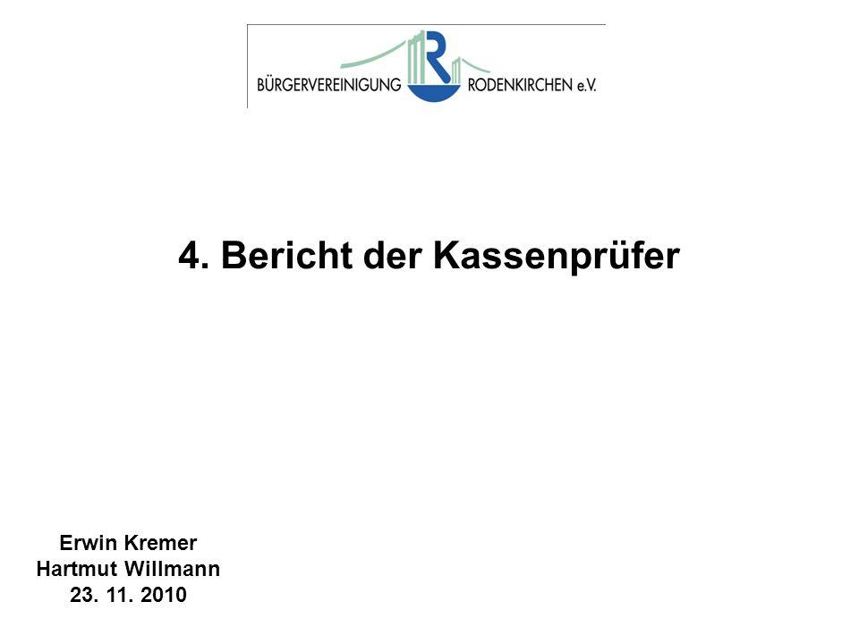 4. Bericht der Kassenprüfer