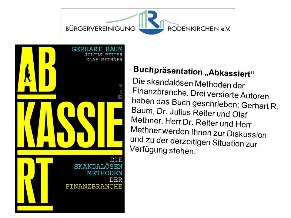 "Buchpräsentation ""Abkassiert"