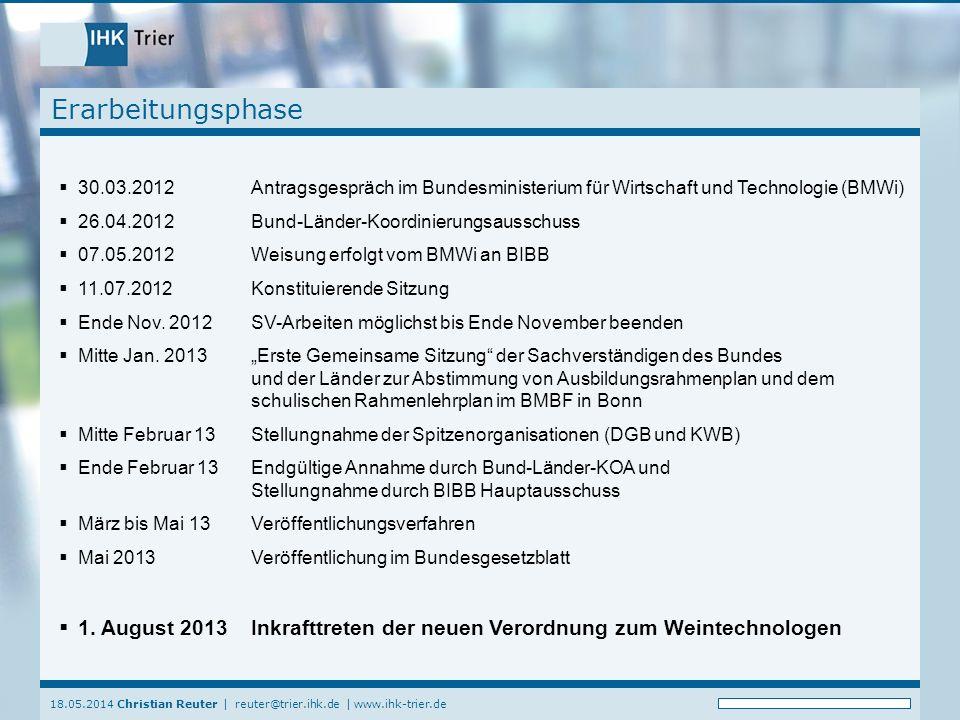 Erarbeitungsphase 30.03.2012 Antragsgespräch im Bundesministerium für Wirtschaft und Technologie (BMWi)
