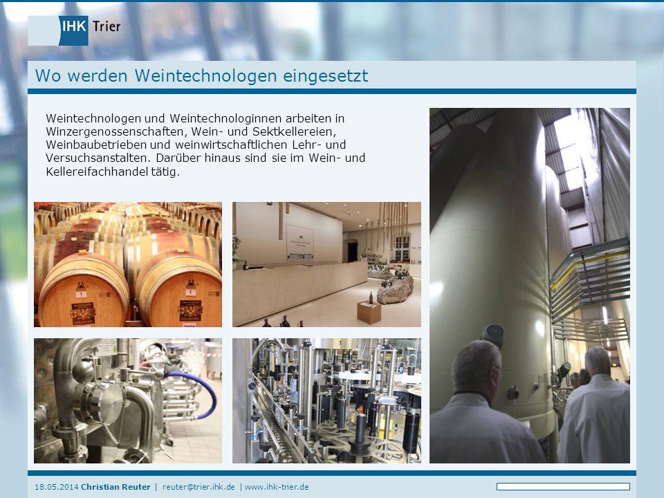 Wo werden Weintechnologen eingesetzt