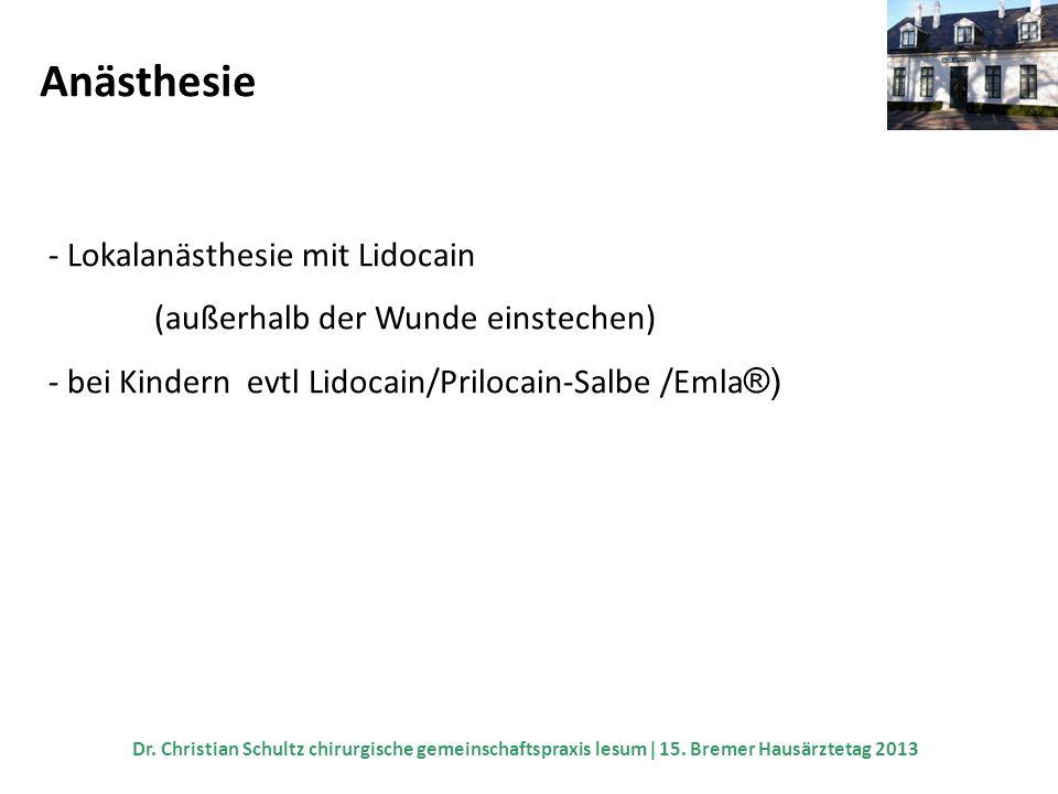 Anästhesie - Lokalanästhesie mit Lidocain