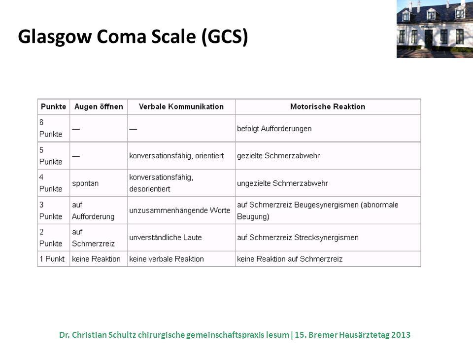 Glasgow Coma Scale (GCS)