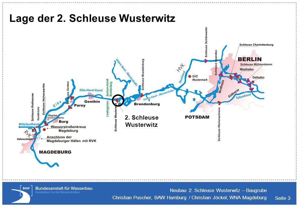 Lage der 2. Schleuse Wusterwitz