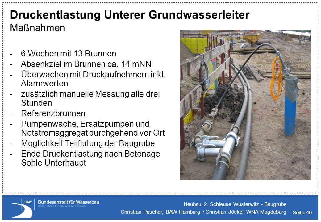 Druckentlastung Unterer Grundwasserleiter Maßnahmen