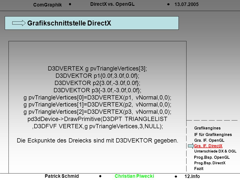 Grafikschnittstelle DirectX