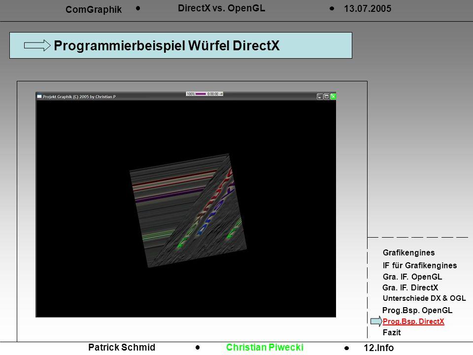 Programmierbeispiel Würfel DirectX