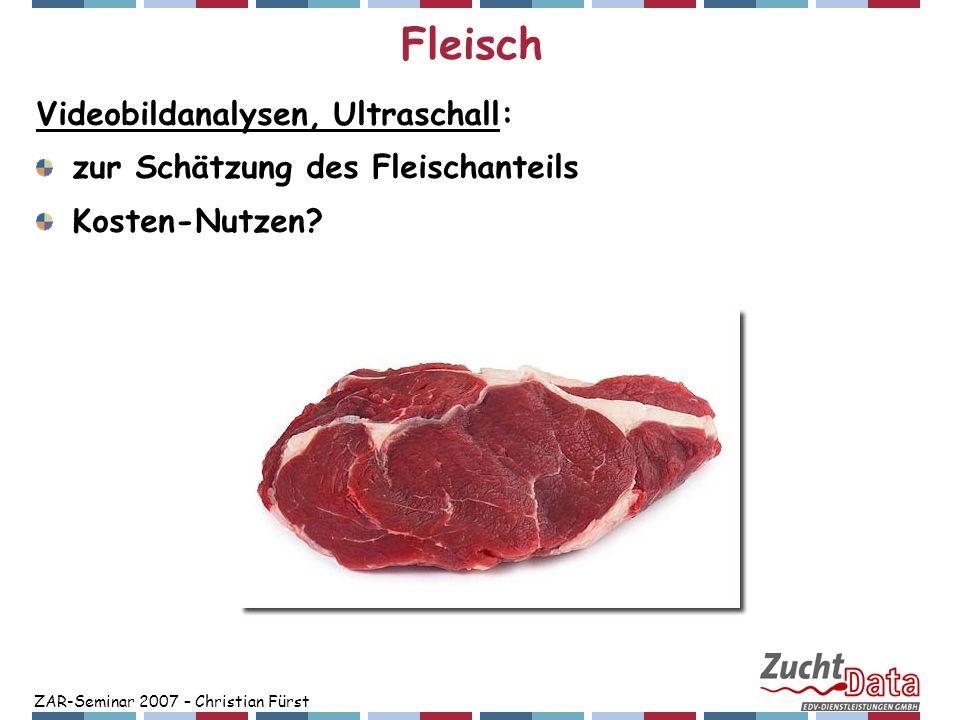 Fleisch Videobildanalysen, Ultraschall: