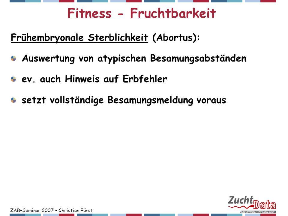 Fitness - Fruchtbarkeit