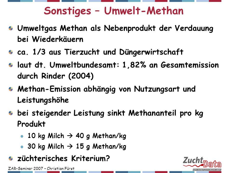 Sonstiges – Umwelt-Methan