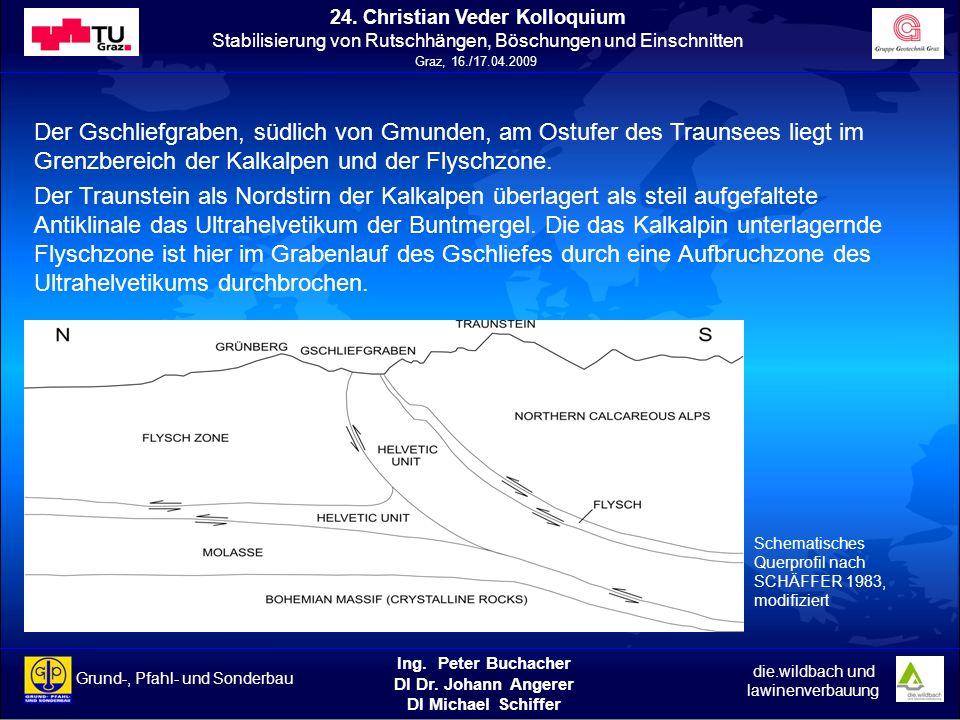 Der Gschliefgraben, südlich von Gmunden, am Ostufer des Traunsees liegt im Grenzbereich der Kalkalpen und der Flyschzone.