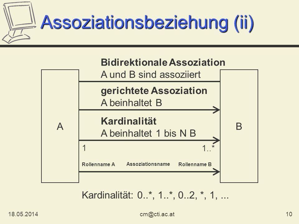 Assoziationsbeziehung (ii)