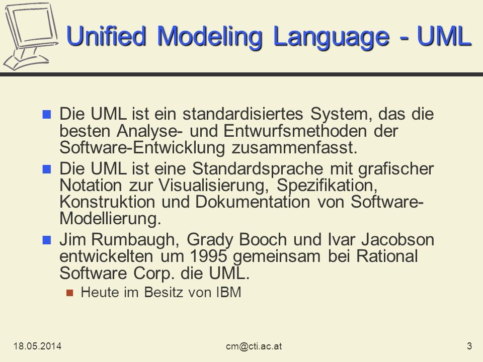 Unified Modeling Language - UML
