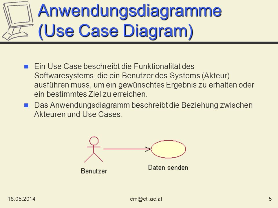 Anwendungsdiagramme (Use Case Diagram)