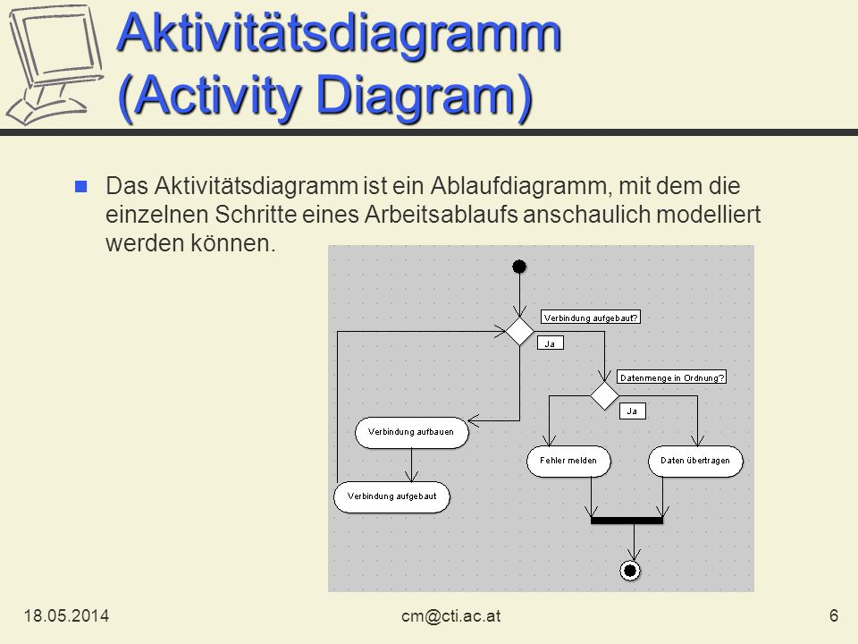 Aktivitätsdiagramm (Activity Diagram)