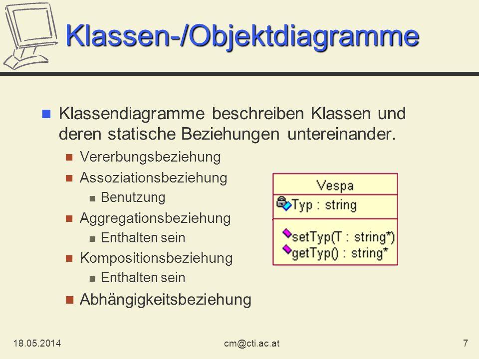 Klassen-/Objektdiagramme