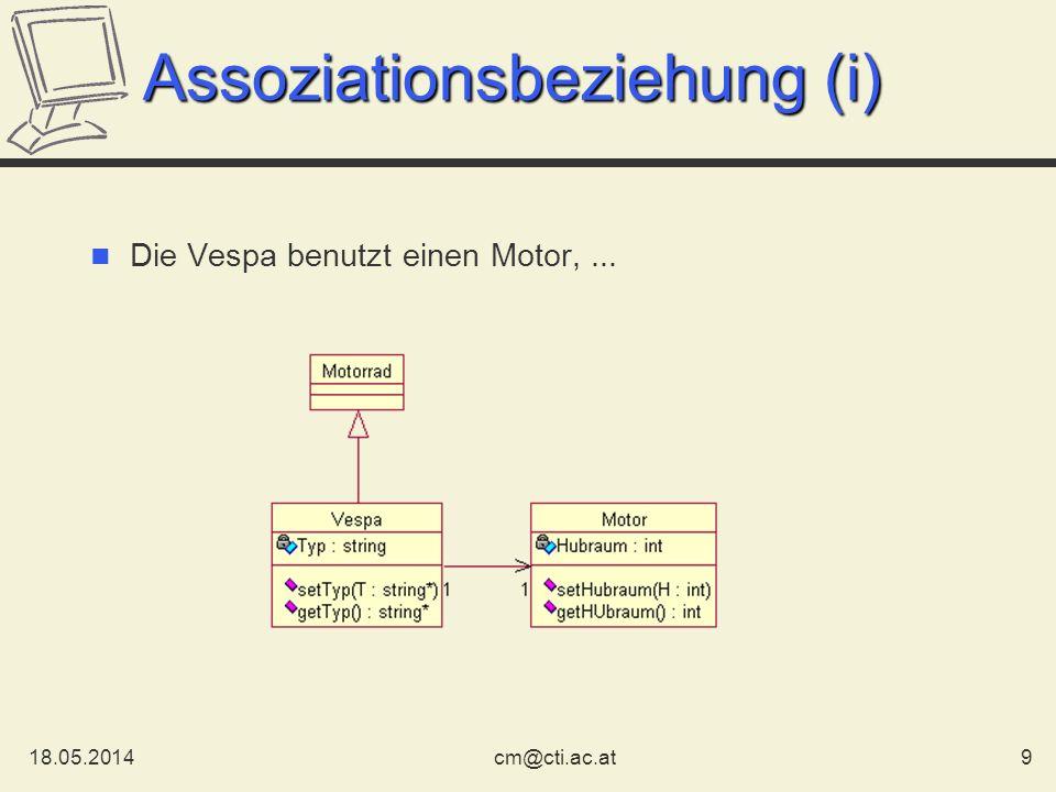 Assoziationsbeziehung (i)