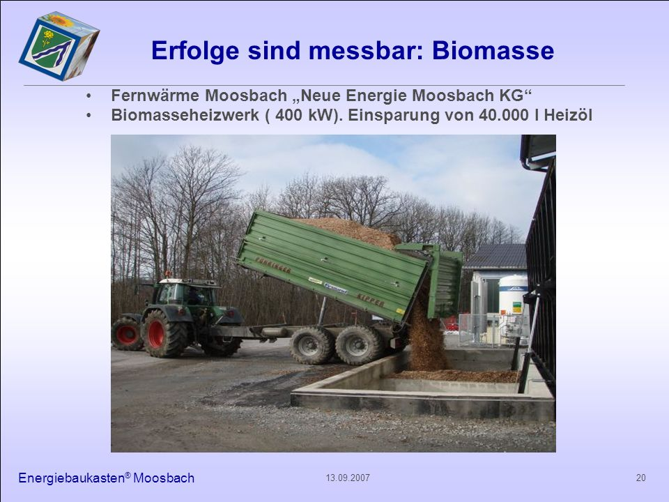 Erfolge sind messbar: Biomasse