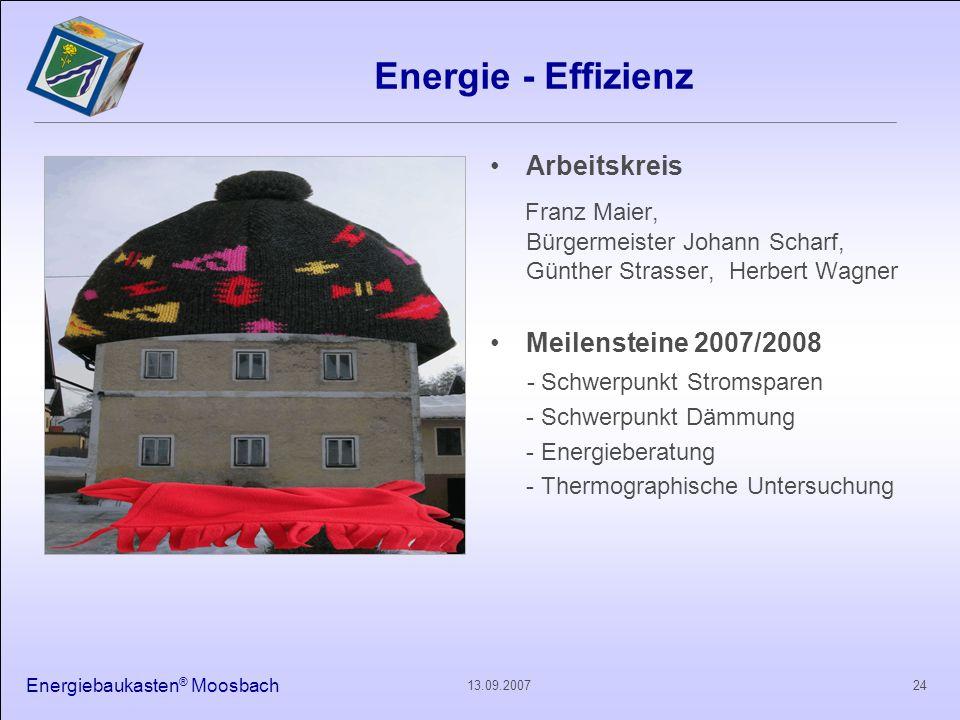 Energie - Effizienz Arbeitskreis. Franz Maier, Bürgermeister Johann Scharf, Günther Strasser, Herbert Wagner.