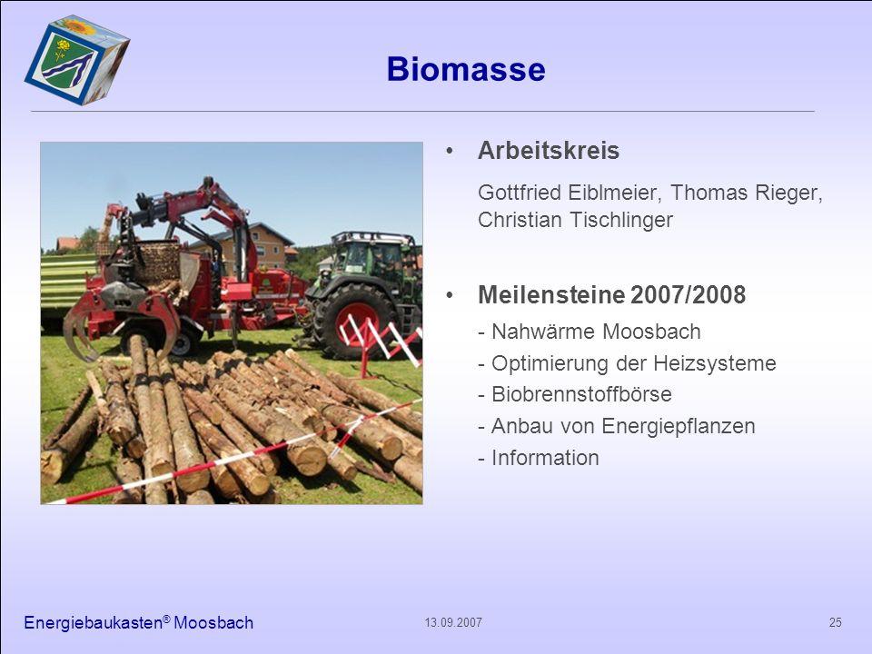 Biomasse Gottfried Eiblmeier, Thomas Rieger, Christian Tischlinger