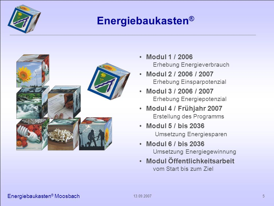 Energiebaukasten® Modul 1 / 2006 Modul 2 / 2006 / 2007