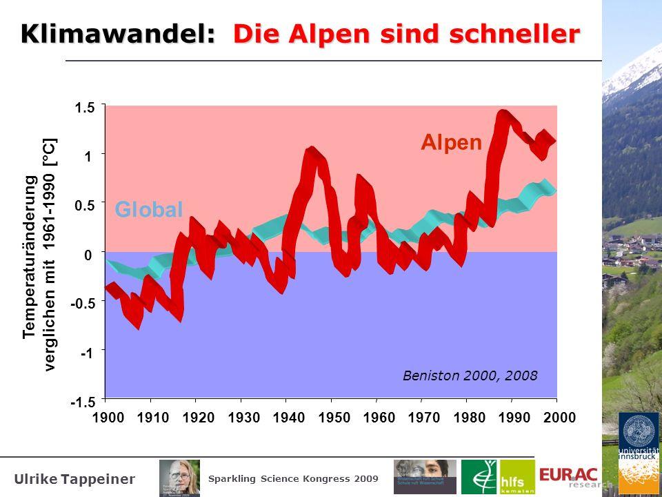 Die Alpen sind schneller Klimawandel: