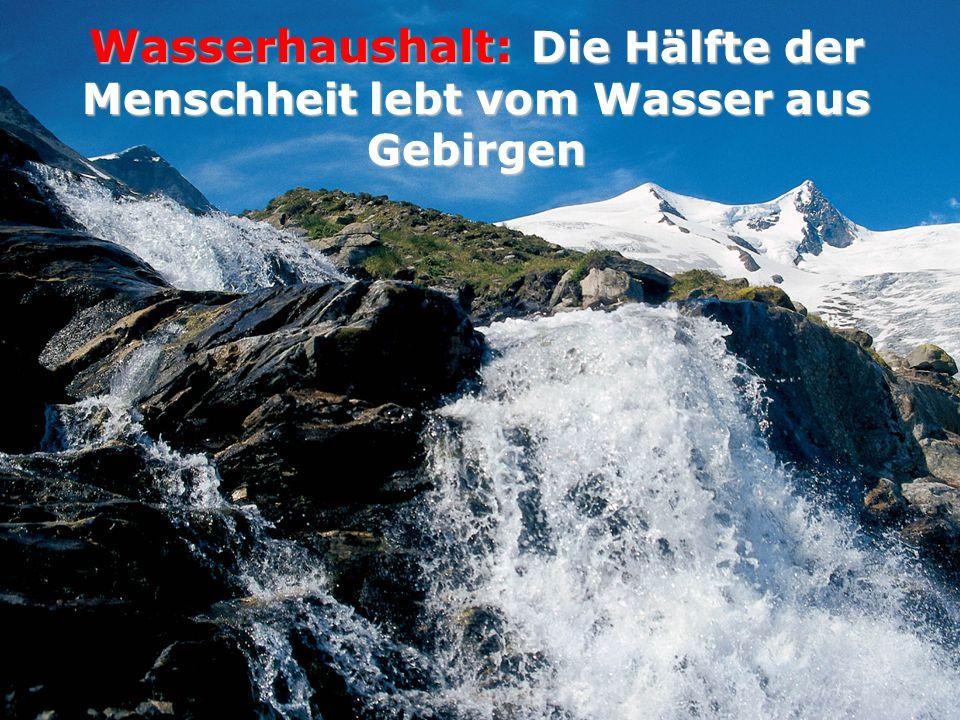 Wasserhaushalt: Die Hälfte der Menschheit lebt vom Wasser aus Gebirgen