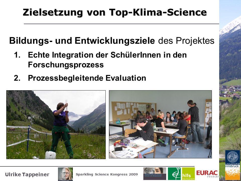 Zielsetzung von Top-Klima-Science