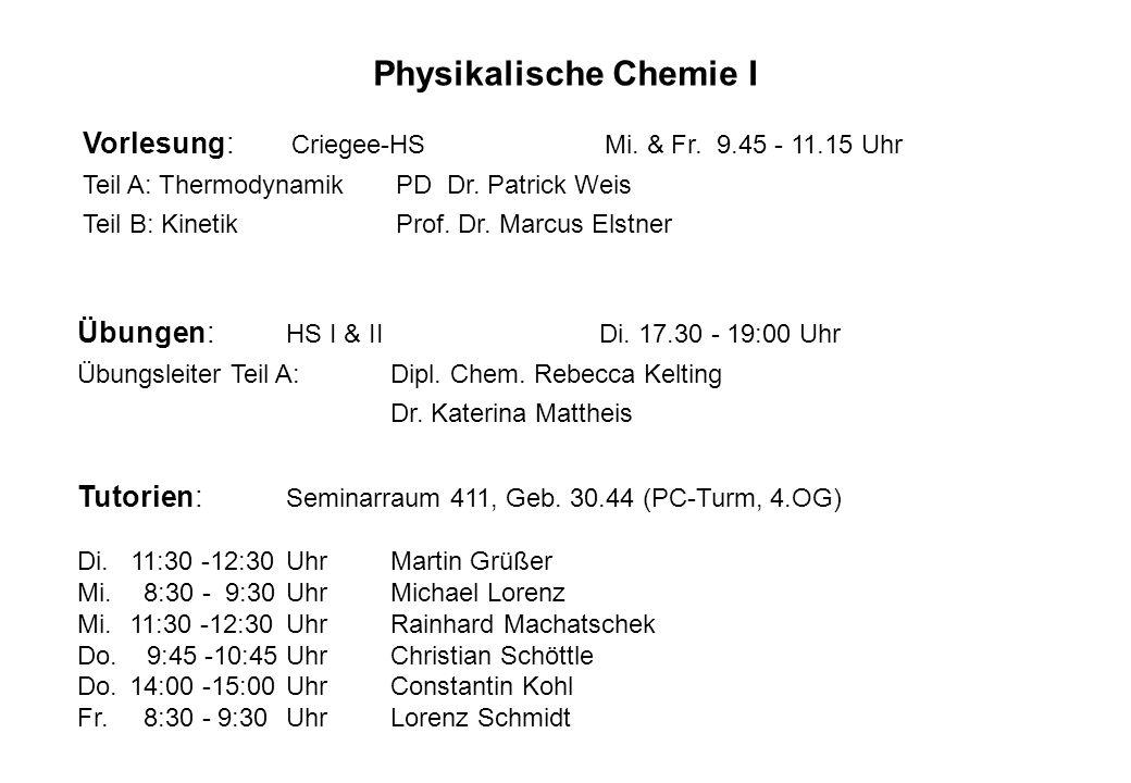 Physikalische Chemie I