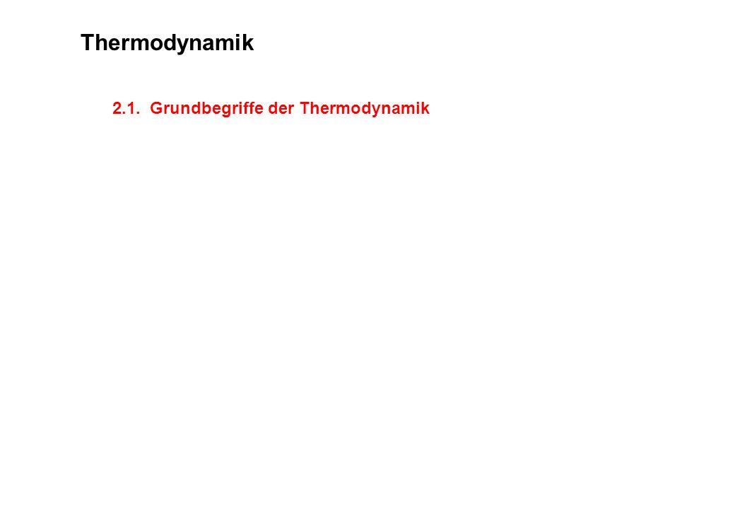2.1. Grundbegriffe der Thermodynamik