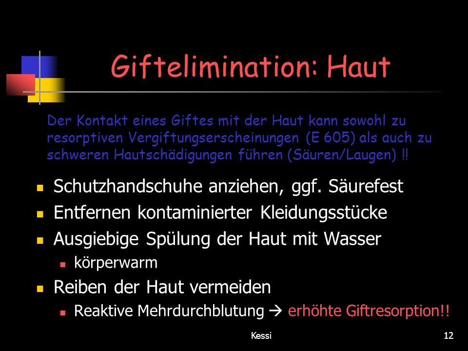 Giftelimination: Haut