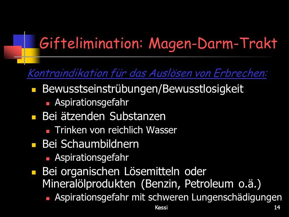 Giftelimination: Magen-Darm-Trakt