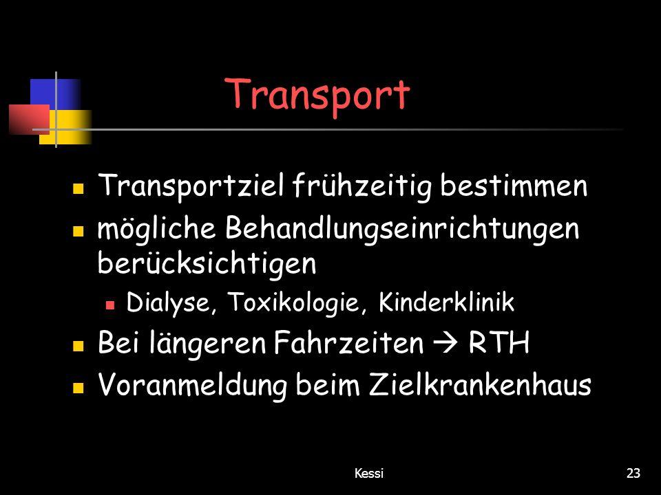 Transport Transportziel frühzeitig bestimmen