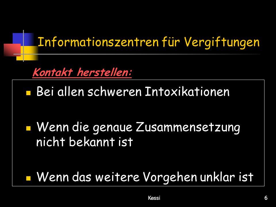 Informationszentren für Vergiftungen