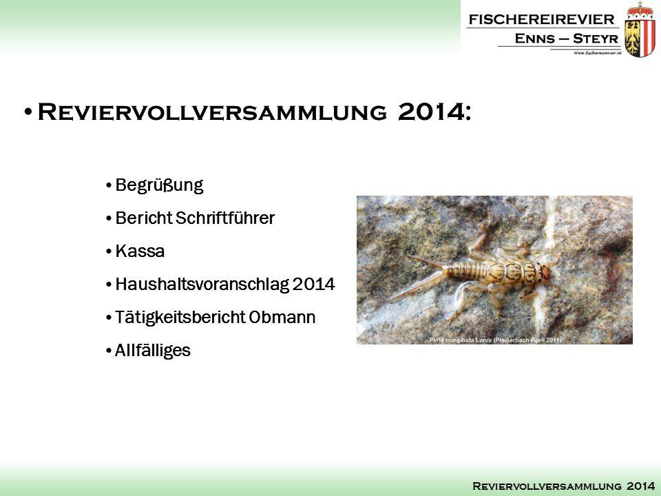 Reviervollversammlung 2014:
